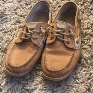 Sperry tan boat shoes size 10